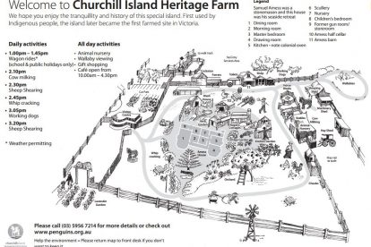 Churchill Island Map